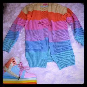 Rainbow long cardigan